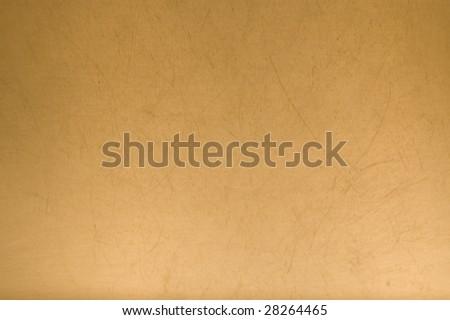 Yellow metal background. - stock photo
