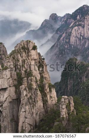 Yellow Mountain, Mt. Huangshan - stock photo