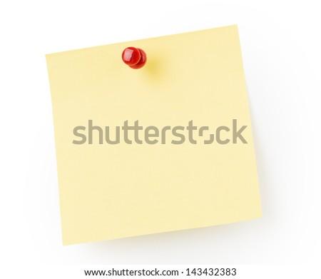 Yellow note paper - stock photo