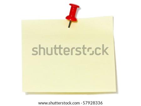 yellow notepad - stock photo