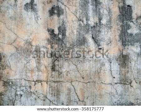 Yellow old wall - stock photo