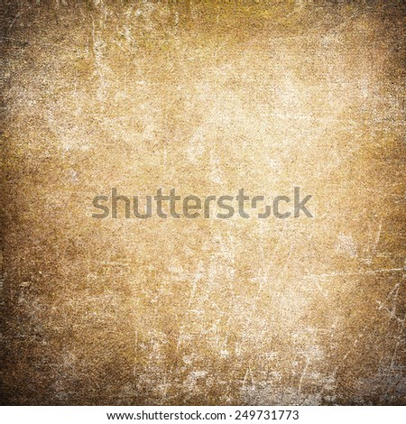 Yellow or orange grunge background wall - stock photo