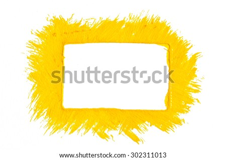 Yellow paint frame - stock photo