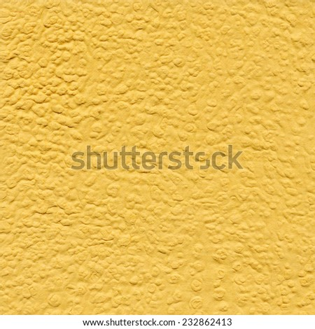 Yellow paper background with pattern. Handmade paper - stock photo