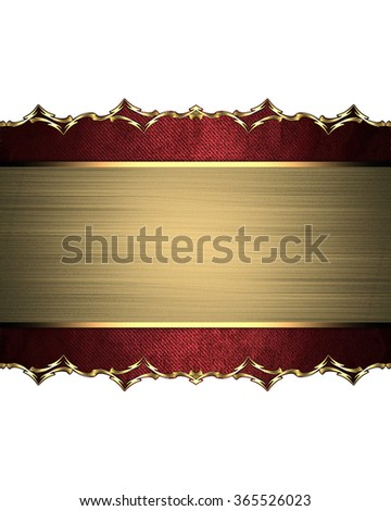 Yellow plate framed by a red box with a gold ornament. Element for design. Template for design. copy space for ad brochure or announcement invitation, abstract background. - stock photo