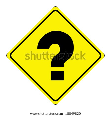 yellow road sign - stock photo