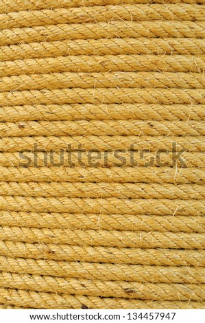 Yellow Rope Background - stock photo