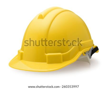 Yellow safety helmet - stock photo