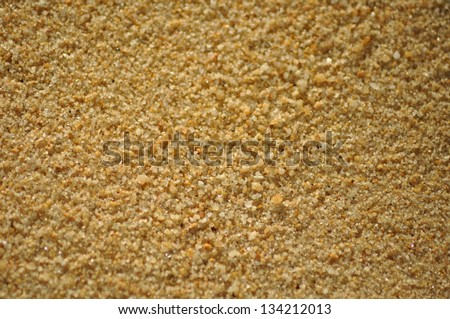 Yellow sand texture - stock photo