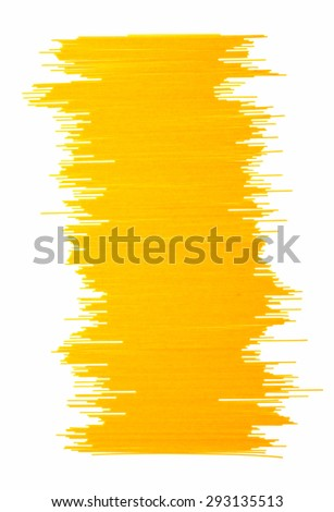 Yellow spagetti on white background for cooking and design. - stock photo