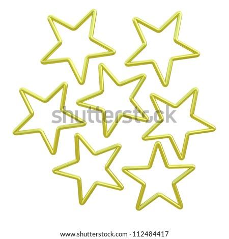 Yellow stars - stock photo