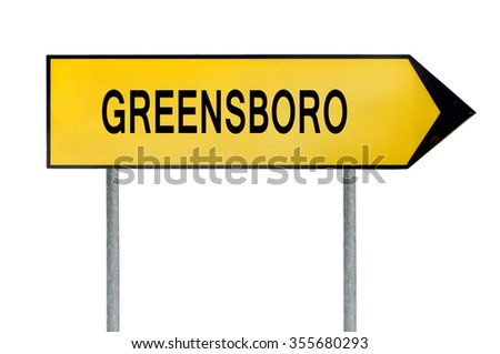 Yellow street concept sign Greensboro isolated on white - stock photo