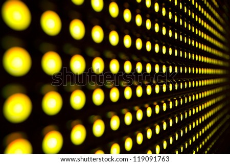 Yellow stretch of LED - stock photo