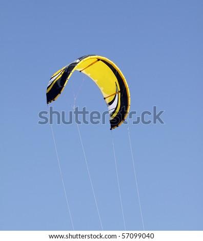 Yellow Super Kite - stock photo