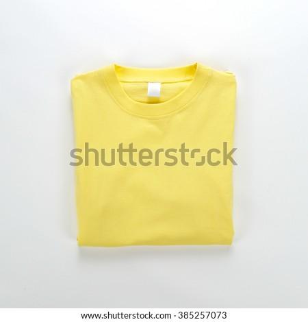 Yellow T-shirt - stock photo