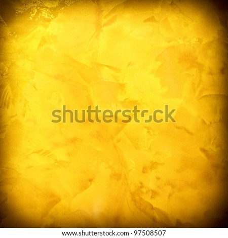 Yellow textured. golden design background - stock photo