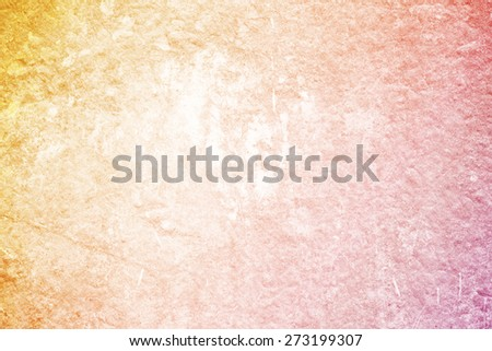 yellow to orange gradient color on grunge texture abstract background - stock photo