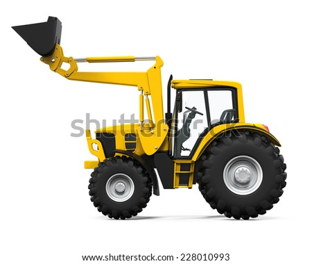 Yellow Tractor Loader - stock photo