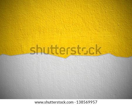 yellow wall background - stock photo