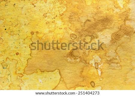 Yellow Watercolor Textures 7 - stock photo
