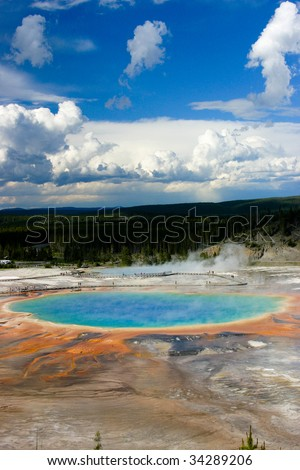 Yellowstone Grand Prismatic - stock photo