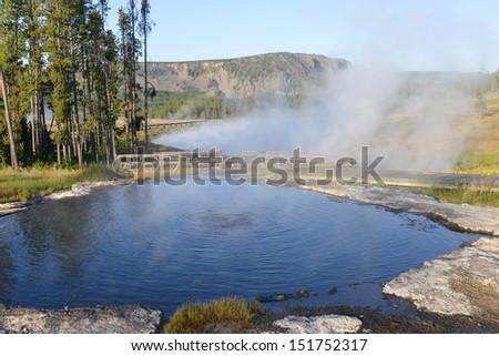 Yellowstone National Park - Hot Springs  - stock photo