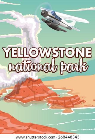 Yellowstone National Park Cartoon Stock Photos Images