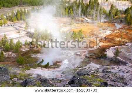 Yellowstone National Park, Wyoming, United States - stock photo