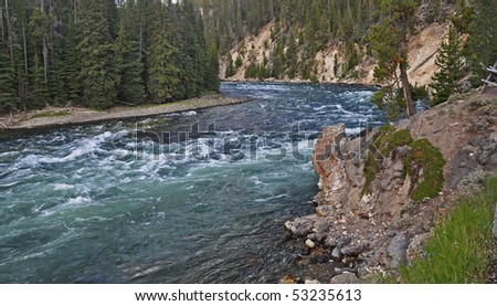 Yellowstone River - stock photo