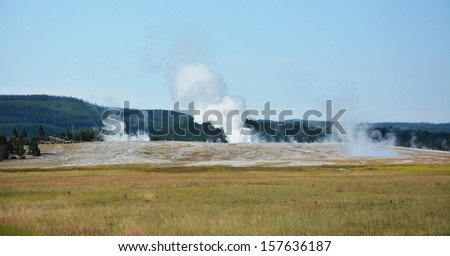 Yellowstone- the geyser land - stock photo