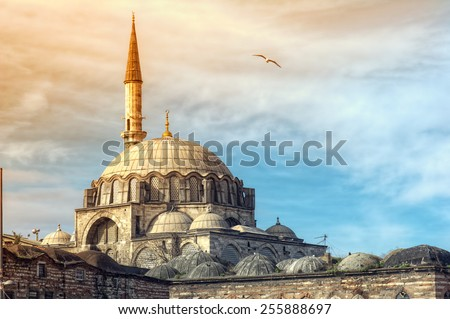 Yeni Cami Mosque The New Mosque in Istanbul , Turkey - stock photo
