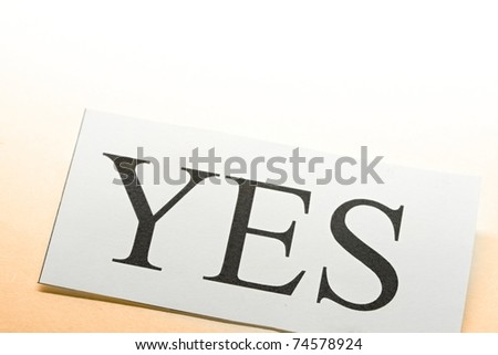 Yes conception - stock photo