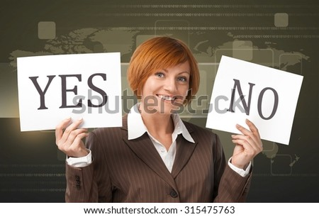 Yes-No Choice. - stock photo