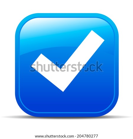 Yes Tick Internet button App Icon - Raster Version - stock photo