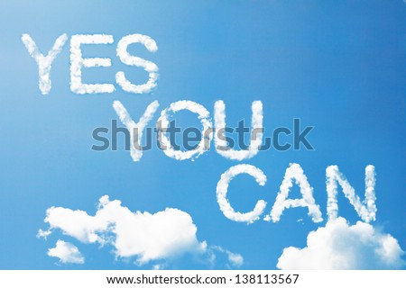 yes you can a cloud massage in the sky - stock photo