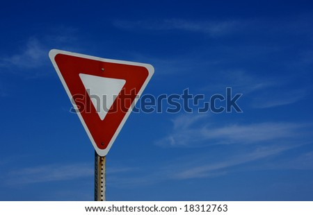 Yield and sky - stock photo