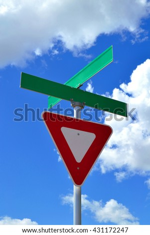 Yield Street Sign   - stock photo