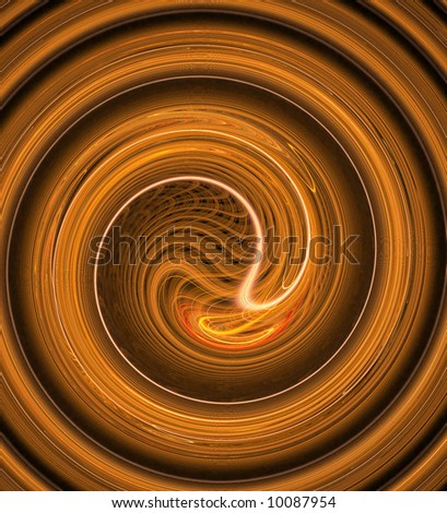 "Yin and yang pattern  - See similar images of this ""Fractal Art"" series in my portfolio - stock photo"