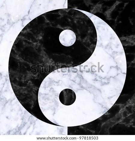 Yin ang Yang/ monada - stock photo