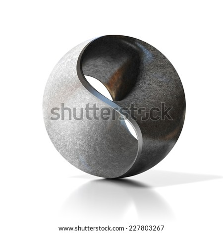 yin yang abstract modern sculpture - stock photo