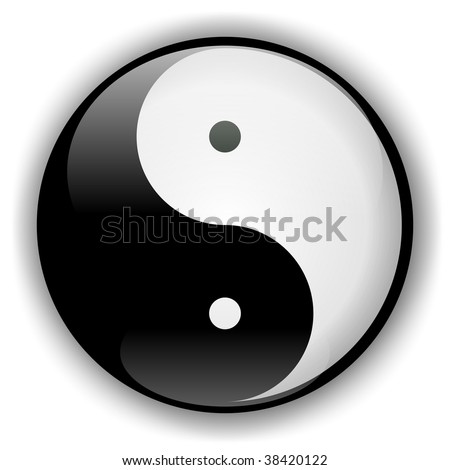 Yin-Yang Icon 2 - stock photo