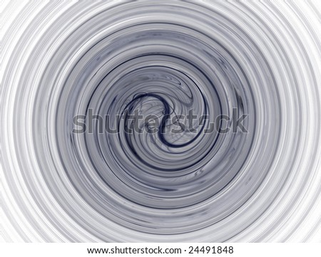 Yin-Yang rendered fractal - stock photo