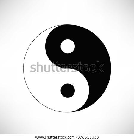 Yin Yang Symbol - stock photo