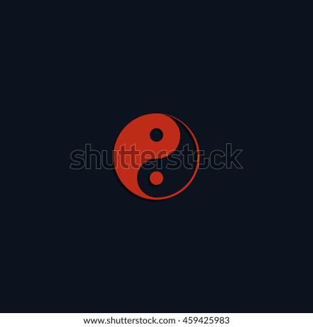 Yin Yang symbol. - stock photo