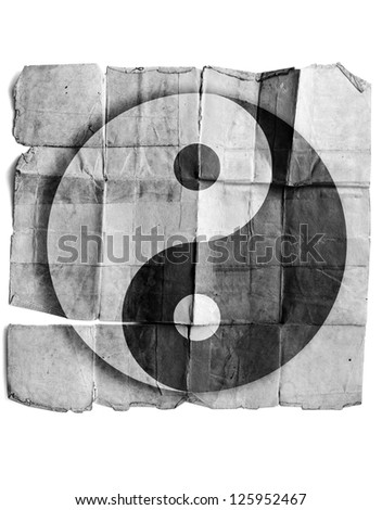 Ying yang symbol - stock photo