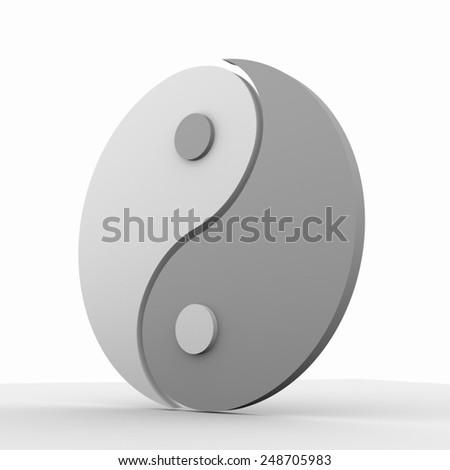 Ying yang symbol of harmony and balance - stock photo