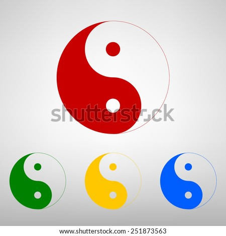 Ying yang symbol of harmony and balance - stock photo