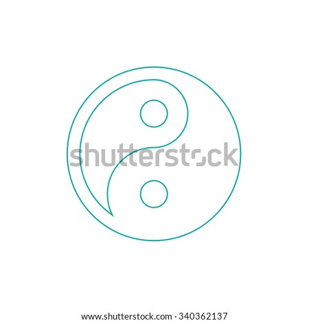 Ying yang symbol of harmony and balance. Concept flat style design illustration icon. - stock photo