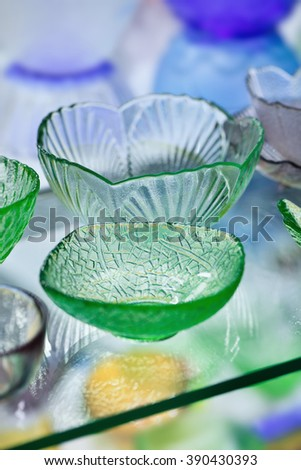 YIWU-CHINA-JANUARY 27, 2016. Goods displayed at crystal department of Yiwu International Trade Mart. It covers 4 million sq. meters, has 100,000 suppliers which exhibit 400,000 different products. - stock photo