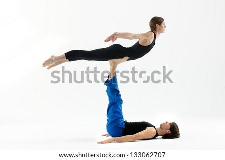 Yoga and balance - stock photo